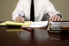 Business Man at Desk Stock Photo