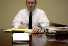 Business Man at Desk Royalty Free Stock Photography