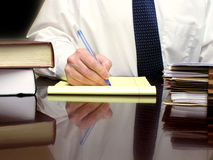 Business Man at Desk Royalty Free Stock Photo