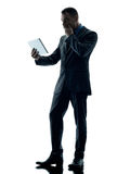 Business man digital tablet  isolated Royalty Free Stock Images