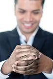 Business man with dirty hands Royalty Free Stock Photography