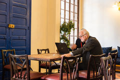 Business man discuss business in the resturant Stock Photography