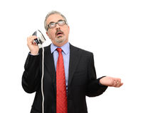 Business man distracted Royalty Free Stock Images