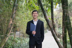 Business man with documentation hand Royalty Free Stock Photos