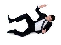 Business man dodge something stock image