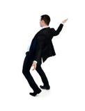 Business man dodge something Stock Photo