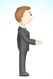 Business Man doing Handshake. Illustration of confident 3d business man in vector in handshake gesture Royalty Free Stock Photography