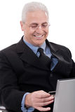 Business man doing internet banking Royalty Free Stock Photography
