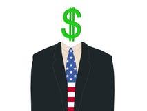 Business man with dollar Stock Photos