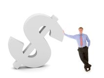 Business man and dollar sign Stock Image