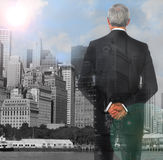 Business Man Double Exposure Royalty Free Stock Image