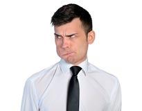 Business Man Doubtful Face Stock Photography