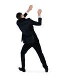 Business man drag something. Business man drag something Royalty Free Stock Image