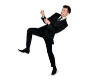 Business man drag something. Business man drag something Stock Photos