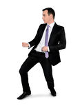 Business man drag something Stock Photo