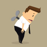 Business man draw arrows, income in the future. Vector Royalty Free Stock Photo