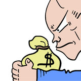 Business man draw Stock Photo