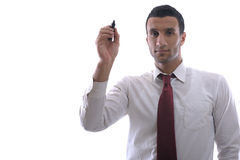 Business man draw with marker on empty space Royalty Free Stock Image