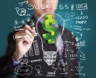 Business man drawing business finance Stock Photos