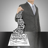 Business man drawing concept of Paper Business Plan Stock Photography