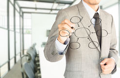 Business man drawing graph to success Stock Photography