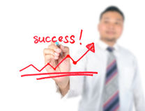 Business man drawing success Stock Photo