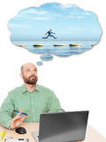 Business man dreaming Royalty Free Stock Image