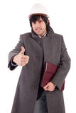 Business man dressed for winter Stock Photo