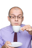 Business man drinking coffee Royalty Free Stock Photos