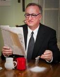 Business Man Drinking Coffee Stock Photo