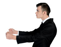 Business man drive position Stock Photo
