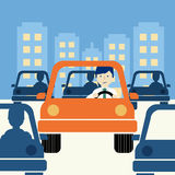 Business man driving Stock Image