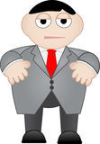 Business Man Dull and Unhappy Royalty Free Stock Images