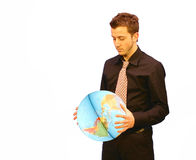 Business Man earth Stock Photo