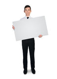 Business man empty board Stock Images