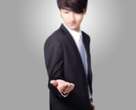 Business man with empty hand Stock Image