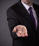 Business man with empty hand Stock Photos