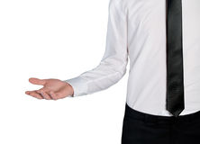 Business man empty hand Royalty Free Stock Image