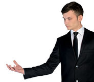 Business man empty hand Stock Photography