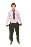 Business  man with empty pockets Royalty Free Stock Photography
