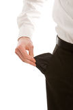 Business man with empty pockets Royalty Free Stock Photos