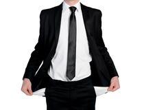 Business man  empty pockets Royalty Free Stock Photos
