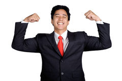 Business man energy power Stock Photo
