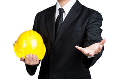 Business man engineer good hand isolated Stock Photo