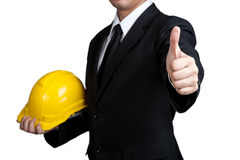 Business man engineer good hand isolated Royalty Free Stock Images