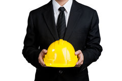 Business man engineer good hand isolated Stock Photography