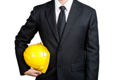 Business man engineer good hand isolated Royalty Free Stock Image