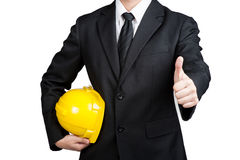 Business man engineer good hand isolated Royalty Free Stock Photography
