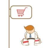 Business man enjoy shopping Royalty Free Stock Photos