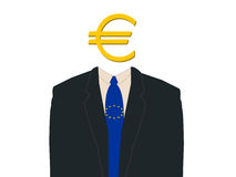 Business man with euro Royalty Free Stock Images